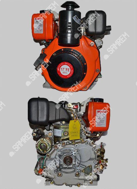 Дизельный двигатель Витязь 178FЕ - (под шлицы Ø25mm) (6 л.с.) с электростартером