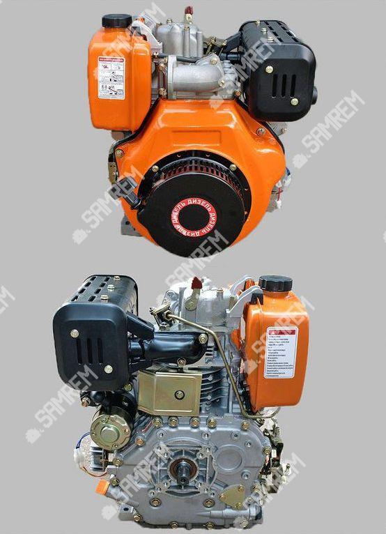 Дизельный двигатель Витязь 186FЕ - (под шлицы Ø25mm) (9 л.с.) с электростартером