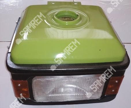 Бак топливный с фарой на мотоблок R195 с накладками